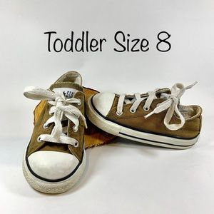 Brown Converse All Stars Toddler 8